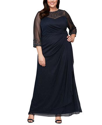Платье больших размеров с украшением Alex Evenings