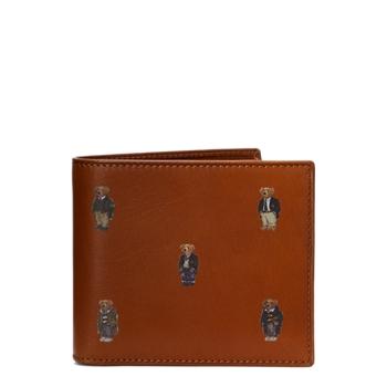 Кожаный бумажник-бумажник Polo Bear Ralph Lauren