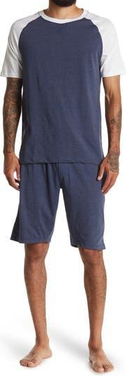 Пижамный комплект из двух предметов с футболкой реглан и шортами на шнурке Unsimply Stitched