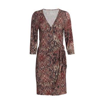 Платье с запахом и рукавами три четверти с принтом Majestic Filatures