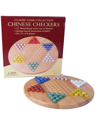 12-дюймовые деревянные китайские шашки, установленные с мрамором John N. Hansen Co.