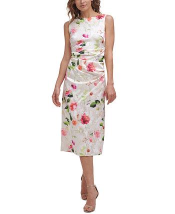 Floral Sheath Dress Eliza J