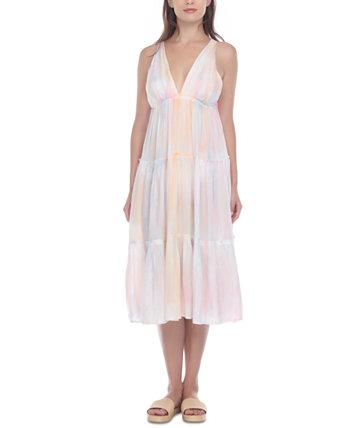 Накидка на многоярусное платье-миди Raviya
