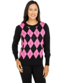 Свитер-пуловер Argyle Luxe с пайетками Elliott Lauren