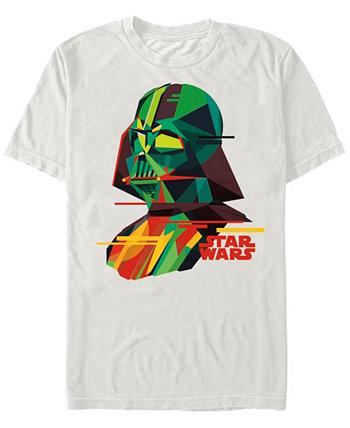 Мужская классическая футболка с короткими рукавами Darth Vader с геометрическим рисунком Star Wars