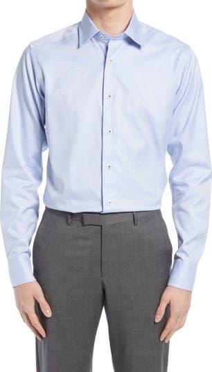 Классическая рубашка Slim Fit Micro Dobby David Donahue