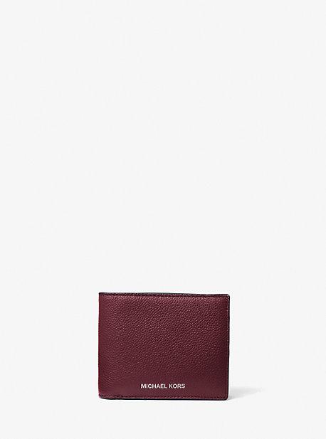 Бумажник-бумажник с футляром из шагреневой кожи Cooper Michael Kors