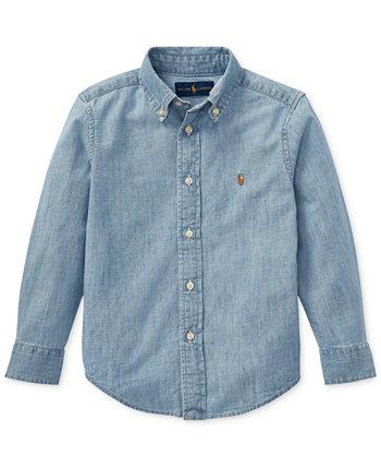 Хлопковая рубашка из шамбре для малышей Ralph Lauren