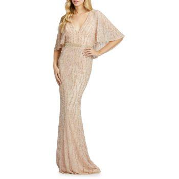 Платье-футляр с пайетками и пайетками MAC DUGGAL