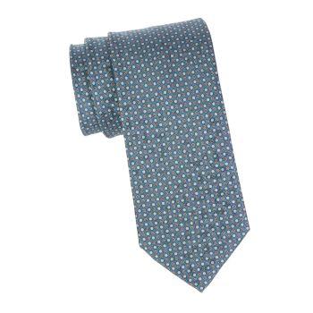 Шелковый галстук с точечным принтом Brioni