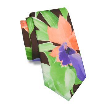 Шелковый галстук с акварельным цветочным рисунком Ralph Lauren Purple Label