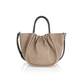 Маленькая кожаная сумка-тоут со сборками Proenza Schouler
