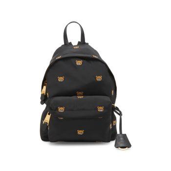 Нейлоновый рюкзак с логотипом Teddy Moschino