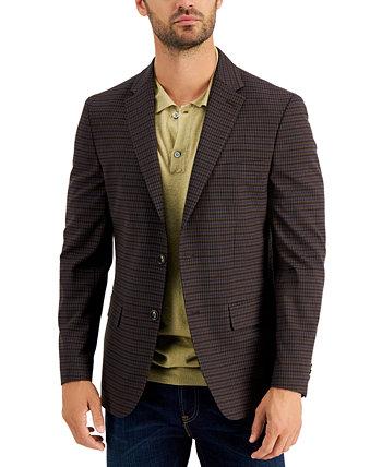 Бордовый / коричневый пиджак в клетку Modern-Fit Tommy Hilfiger
