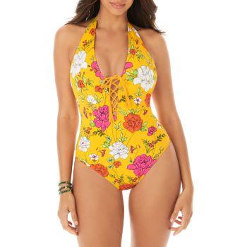 Слитный купальник Sirene с цветочным принтом Skinny Dippers