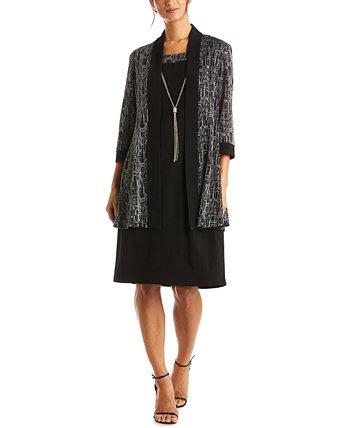 Куртка и платье больших размеров с блестками R & M Richards