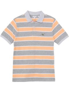 Футболка-поло в полоску с короткими рукавами и значком (для младенцев / малышей / маленьких детей / детей старшего возраста) Lacoste Kids