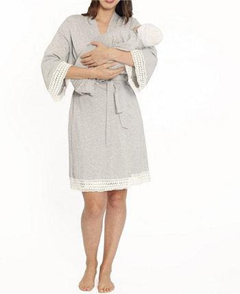 Blooming Women 3 шт. Халат, платье для кормления и комплект детской одежды Blooming Women by Angel