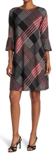 Трикотажное платье трапециевидной формы с расклешенными рукавами Sandra Darren