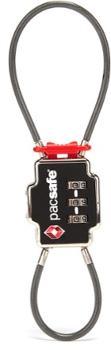 Принятый TSA замок с двойным тросиком для 3 циферблатов Pacsafe