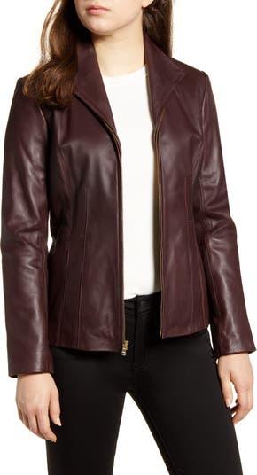 Кожаная куртка Cole Haan из овечьей кожи COLE HAAN SIGNATURE