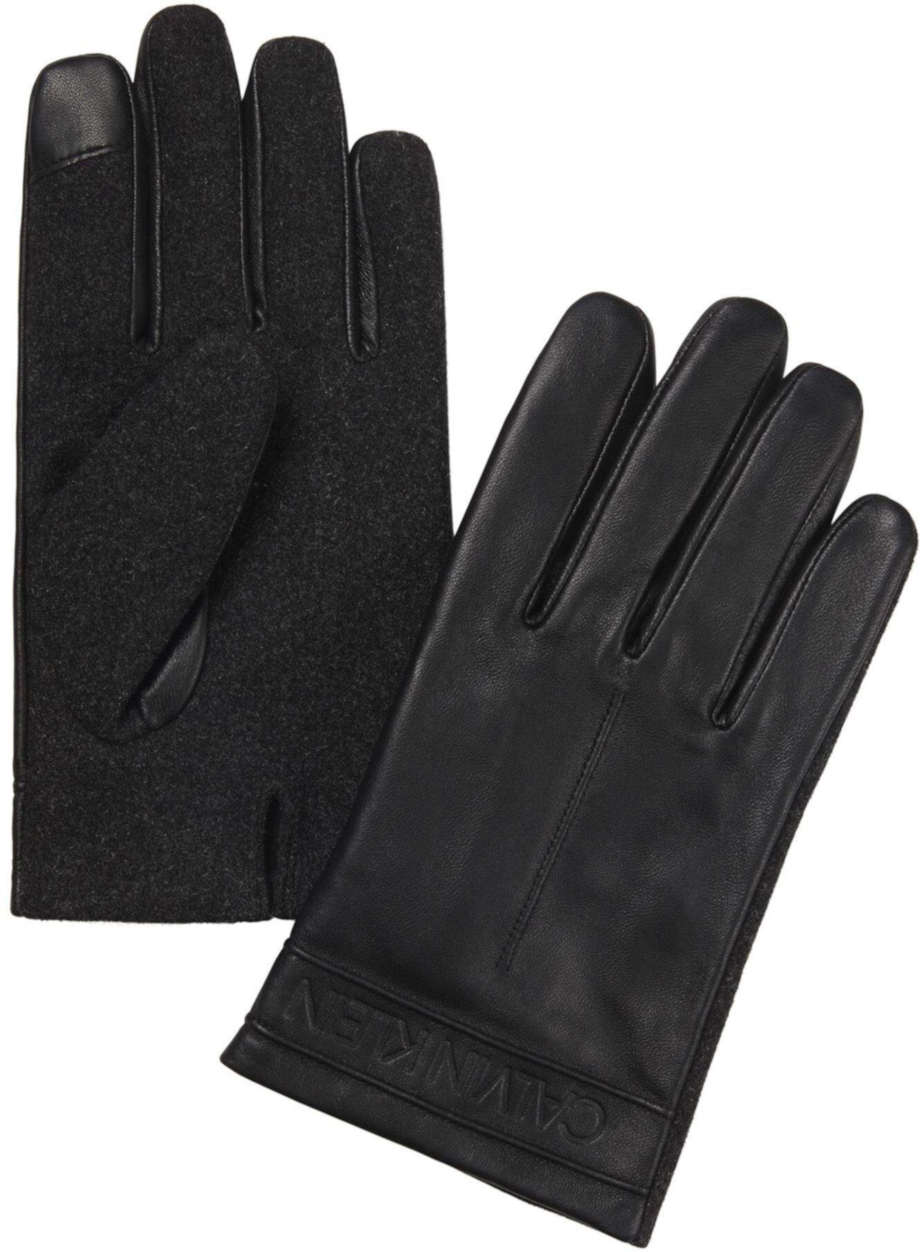 Leather Gloves Calvin Klein