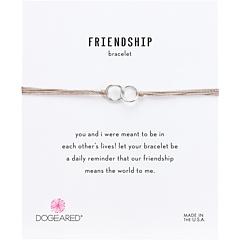 Шелковый браслет с двойными кольцами дружбы Dogeared
