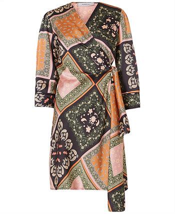Платье с запахом и шарфом Marella