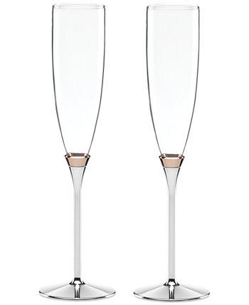нью-йорк Rosy Glow Toasting Flute Pair Kate Spade