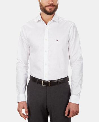 Мужская приталенная эластичная однотонная рубашка, эксклюзивно в Интернете, создана для Macy's Tommy Hilfiger