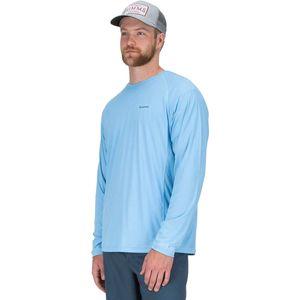 Однотонная рубашка с круглым вырезом и длинным рукавом Simms SolarFlex Simms