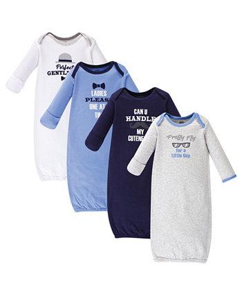Хлопковые платья для маленьких девочек, 4 шт. В упаковке Luvable Friends