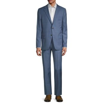 Шерстяной костюм стандартного кроя Milburn II с оконным стеклом Hickey Freeman