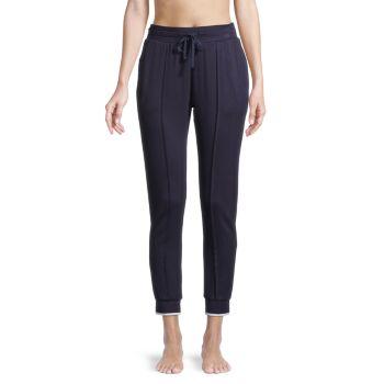 Брюки-джоггеры с контрастной отделкой Donna Karan Sleepwear