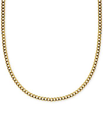 Ожерелье-цепочка с 20-дюймовым узлом (3-1 / 6 мм) из цельного золота 585 пробы Italian Gold