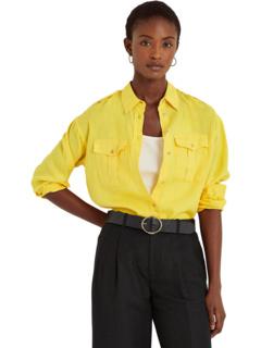 Petite Linen Shirt Ralph Lauren