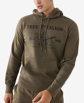 Мужская толстовка с капюшоном металлик Будда-пуловер True Religion