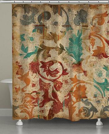 Занавеска для душа с цветочным орнаментом Laural Home