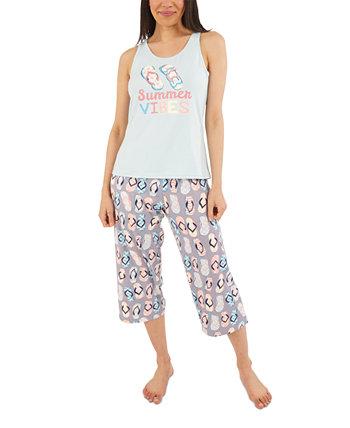 Пижамный комплект с капри Summer Vibes Munki Munki