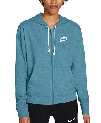 Женская спортивная одежда в винтажном стиле с капюшоном на молнии для тренажерного зала Nike