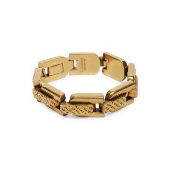 Браслет Lo-Link из драгоценного античного золота Balenciaga