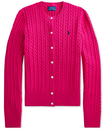 Big Girls Mini-Cable Cotton Cardigan Ralph Lauren