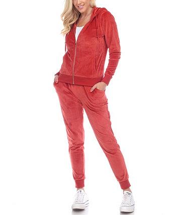 Женский велюровый спортивный костюм, комплект из 2 предметов одежды для дома White Mark