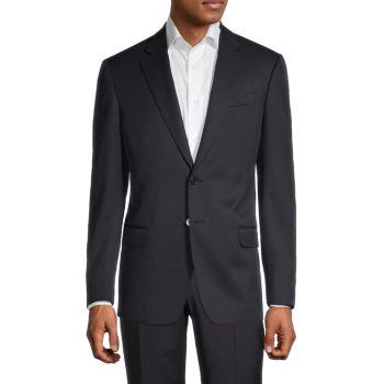 Пиджак классического кроя из натуральной шерсти Armani Collezioni