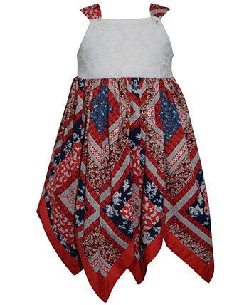 Платье в стиле бохо, смешанная техника для маленьких девочек Blueberi Boulevard