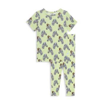 Baby's, Little Boy's & amp; Футболка из двух частей с принтом зебры и Dante для мальчиков Штаны пижамный комплект Posh Peanut
