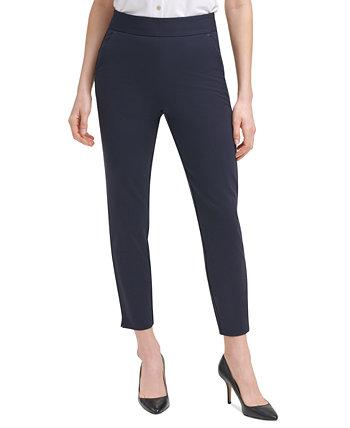 Компрессионные брюки-понте без застежки Tommy Hilfiger