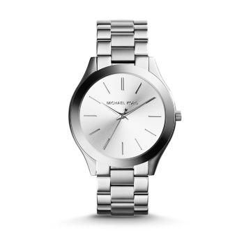 Тонкие часы с браслетом из нержавеющей стали Runway Michael Kors