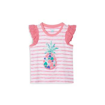 Майка для маленьких девочек и девочек с оборками в виде ананасовых сердечек Hatley