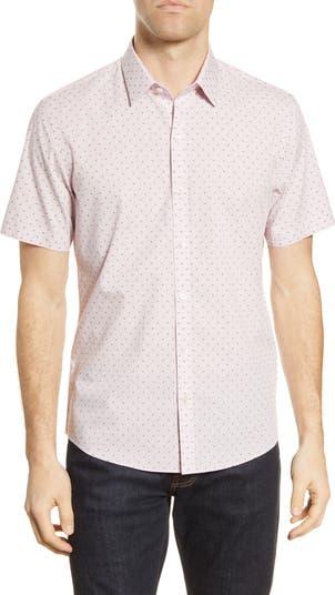 Рубашка классического кроя с короткими рукавами и пуговицами Huang Zachary Prell